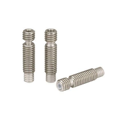 Stainless Steel 1.75/3mm Extruder Nozzle Throat Tube M6*26mm For E3D 3D Printer