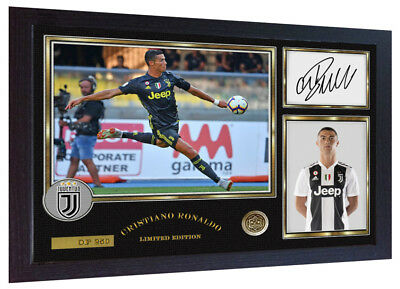 Cristiano Ronaldo Signed Mounted Photo Display Juventus FC Autographed Gift Picture Print