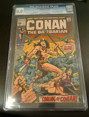 Conan The Barbarian #1 Cgc 6.0
