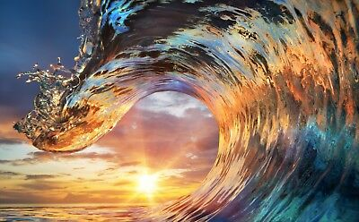 Wave, sea , sunset,abstract   /High Quality Canvas wall art Australia made