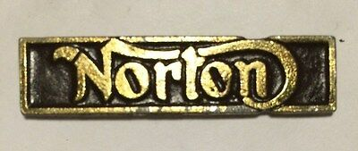 Vintage Sculpted Norton Name Bar B old  metal badge