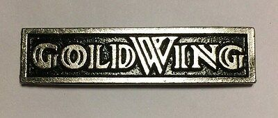 Vintage Sculpted Honda Goldwing Bar P Old Metal Badge