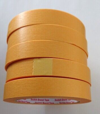 2x 3M Abdeckklebeband Scotch Masking Tape 244 , 18mm x 50m Gold Tape