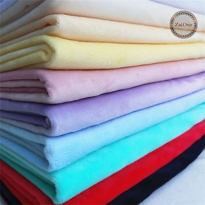 Polar Fleece Plain Soft Cuddle Flannel Fabric Material Baby Plush Blanket 59""