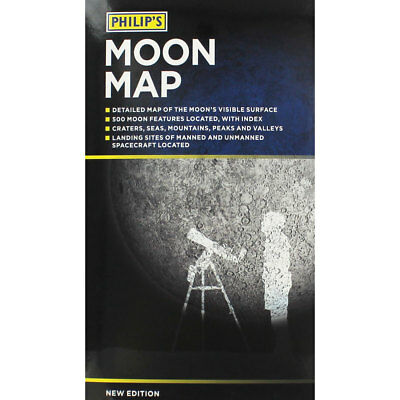 Philips Moon Map 2018 by Phillips (Paperback), Non Fiction Books, Brand New