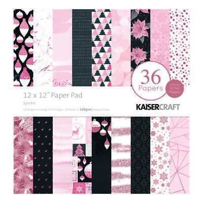 NEW Kaisercraft Sparkle 12 inches Paper Pad By Spotlight