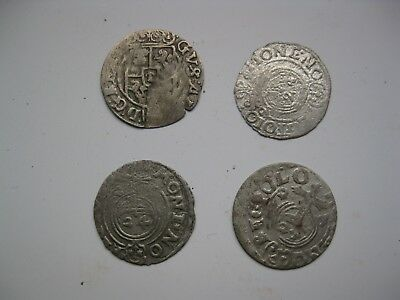 Poland - 4 pieces of unidentified medieval silver coins