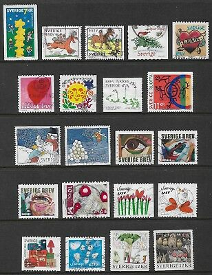 SWEDEN mixed collection No.33, 2000-2010, used