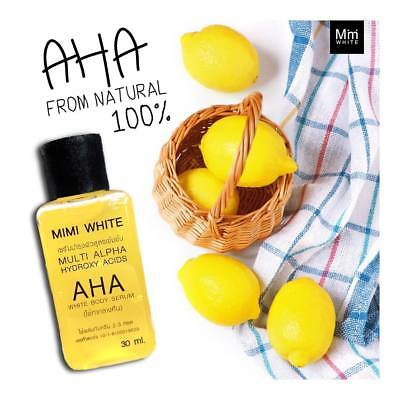 Mimi White AHA Body Serum Fast Bleaching White Brightening Mix in Lotion 30 ml.