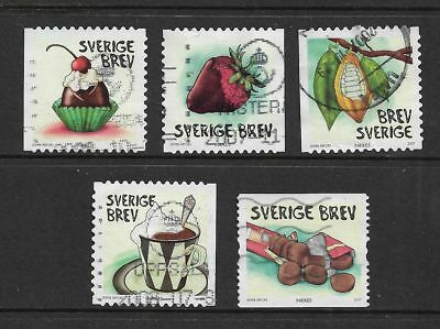 SWEDEN 2007 Chocolate, No.2, set of 4 + 1, used