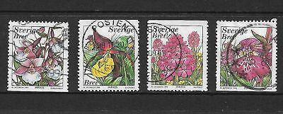 SWEDEN 1999 Orchids, Flowers, set of 4, used