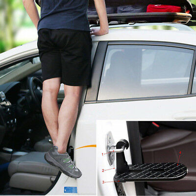 Car DoorStep Ladder Pedal Step Up Aid To Easily Rooftop Roof Rack Luggage Tool