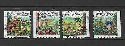 SWEDEN 2004 Forest Food, set of 4, used