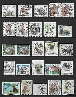 SWEDEN mixed collection No.36, Animals, used