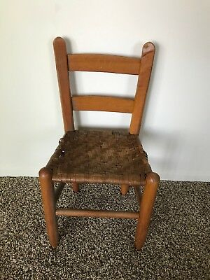Antique Kids Wooden Chair (RARE)
