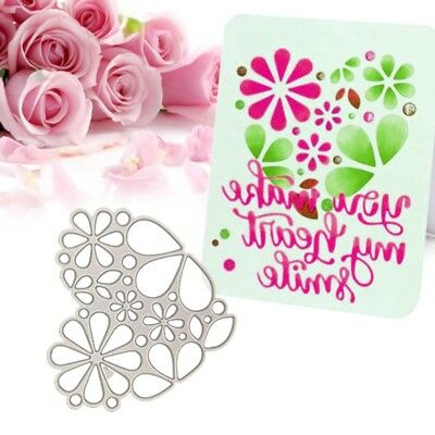 Floral Love Heart Decor Card Cutting Dies Stencil Scrapbook Card Embossing Craft