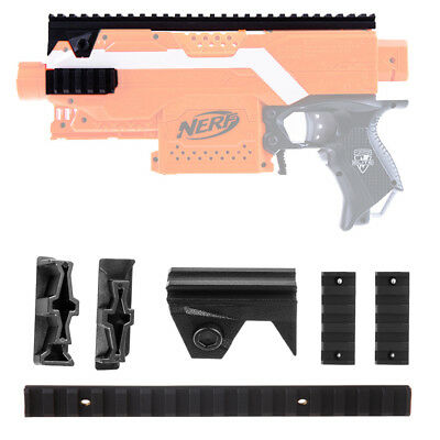 Worker Mod Black Picatinny Rail Mount Top Side Combo 4 items For Nerf Stryfe Toy