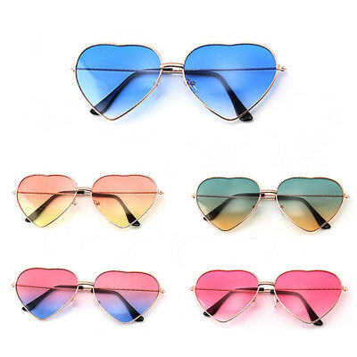 Gradient Sun Glasses Vintage Metal Frame Lolita Heart Shaped Desinger Sunglasses