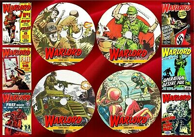 Warlord UK Comics (1-627) + Annuals + Specials On 4 DVD Rom's