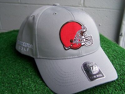 Bridgestone Golf Cleveland Browns Gray golf Hat Cap  47 NFL Team Adjustable  NEW c42e6947bade