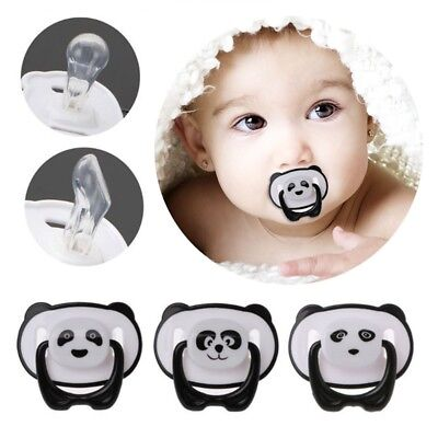 1pc Panda Toddler Baby Silicone Orthodontic Soother Dummy Pacifier Soft Nipple