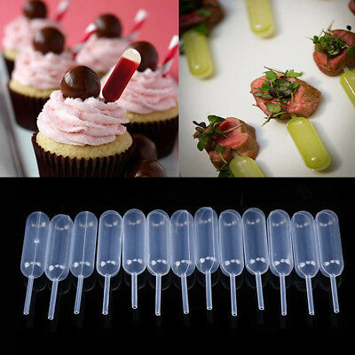 Chocolate Dropping Dessert Cupcake Squeeze Dropper Clear Transfer Pipette