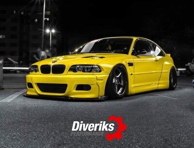 BMW E46 M3 COUPE PANDEM STYLE WIDE FENDERS. TÜV material report
