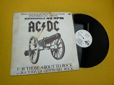 AC/DC-For Those About To Rock- Para Toda La Gente Del Rock (VG/EX+) Spanish Lp ç