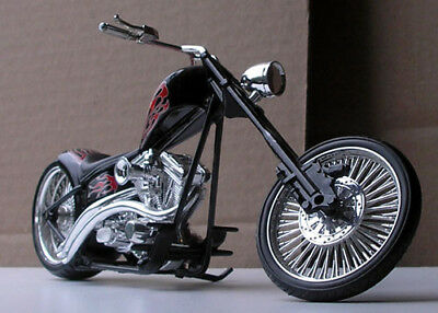 Big Twin Harley Chopper - very cool with cool flames - plastic model