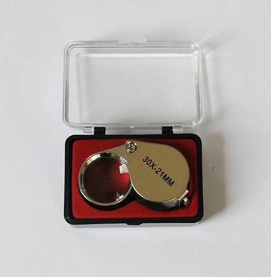 30 x 21mm Jewellers Eye Glass Loupe with Case, Jeweler's Magnifier Magnifying