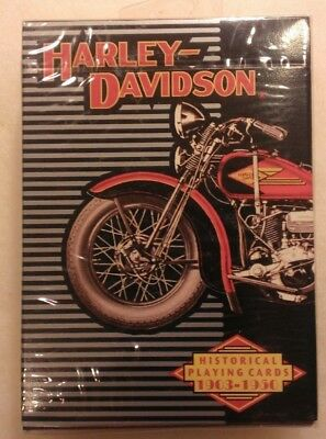 Harley-Davidson Motorcycles Historical Playing Cards 1903-1950 Sealed
