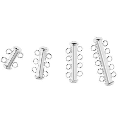 Tube Slide Lock 925 Sterling Silver Luxury Jewelry Connectors Making Clasp