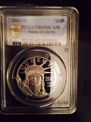 2003 1 oz platinum egle box & papers Proof BY PCGS PR-69 DCAM