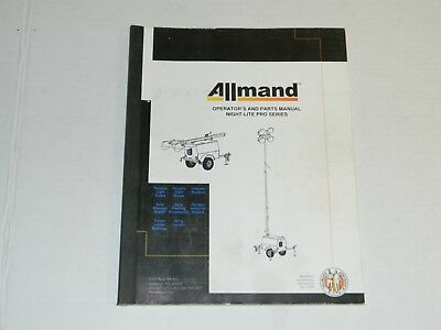 Allmand Night Lite Pro Series Operation And Parts Manual May 2000