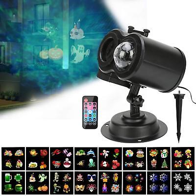 Halloween Projector Lights Water Wave Animated LED With 12 Slides Patterns Home