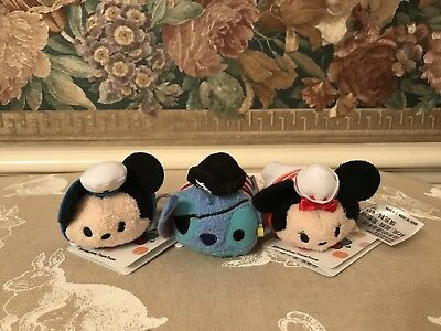 New Disney Cruise Line Exclusive Tsum Tsum Mickey Minnie Stitch Set