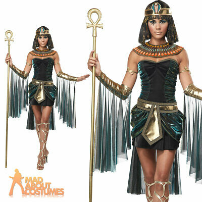 Egyptian Goddess Costume Sexy Cleopatra Fancy Dress Ladies Queen of the Nile