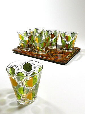 Vintage Double Old Fashioned Tumbler Glasses Set Of 6