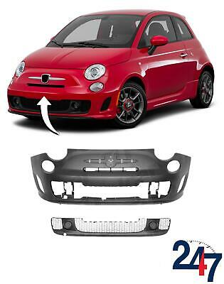 New Fiat 500 (312) Abarth 2007 - 2015 Primed Front Bumper With Center Grill