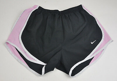 NIKE DRI-Fit Tempo TRACK Black PINK White WOMEN'S Running SHORTS Lined Sz S