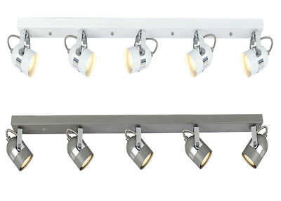 Large Interior 5 Way GU10 LED Long Ceiling Straight Bar Spot Light Fitting LED