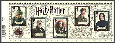 Gb 2018 Harry Potter Films Characters Sprout Snape Lupin Slughorn M/Sheet Mnh