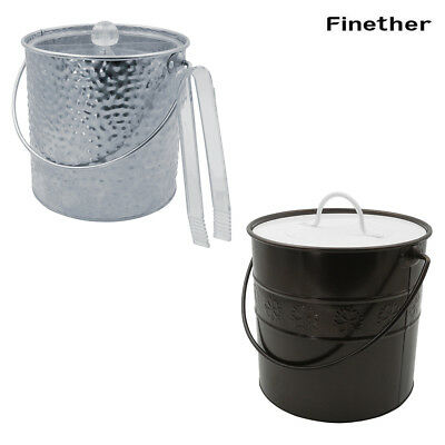 3 Liter Stainless Iron Ice Container Insulated Double-Wall Ice Bucket+Clear Lid
