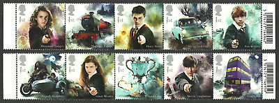 Gb 2018 Harry Potter Films Chess Train Motorbike Car Bus Wizard Set Mnh