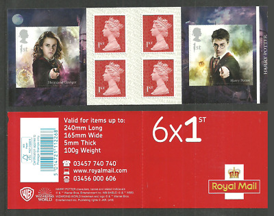 Gb 2018 Harry Potter Films Harry & Hermione Self Adhesive Booklet Mnh