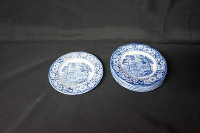 6 Staffordshire Liberty Blue Bread Plates Monticello 6""