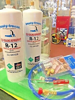 Refrigerant R12, two  28 oz. Cans, LEAK STOP, ProSeal XL4, Screwdriver Set NEW!