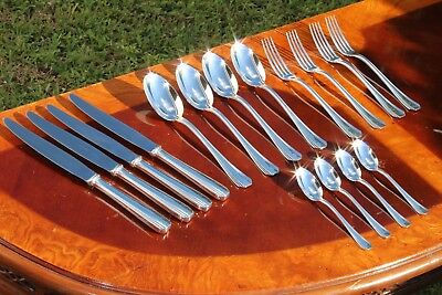 Nice Christofle Boreal Silver Plated Flatware 16 Pcs Set in 4 Settings