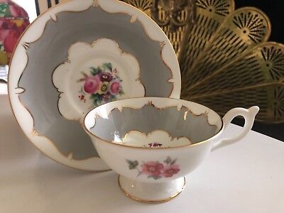 VINTAGE CUP SAUCER Set Coalport English Porcelain Bone China