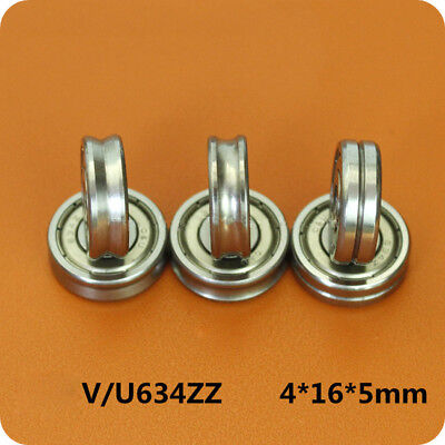 1Pc Outer Ring With V and U Grooved Bearings V/U634ZZ Size 4*16*5mm High Quality